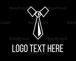 Work - Black & White Necktie logo design