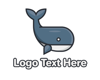 Epic - Cute Whale logo design
