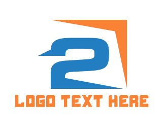 Number 2 - Sharp Number 2  logo design