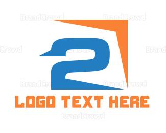 Second - Sharp Number 2  logo design