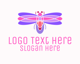 Pinkish - Pinkish Dragonfly logo design