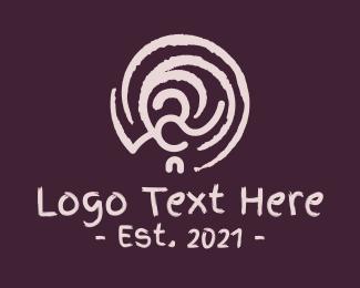 Brushstroke - Brown Swirly Ornament logo design