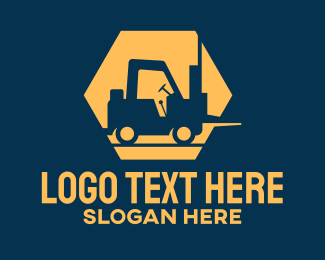 Warehouse - Construction Forklift logo design