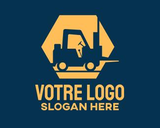 Construction Construction Forklift logo design