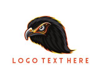 Vulture - Black Eagle Head logo design