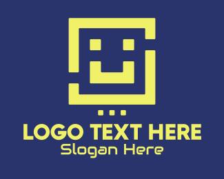Smile - Retro Game Smile logo design