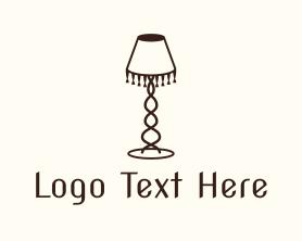 Light - Retro Lamp Lighting logo design