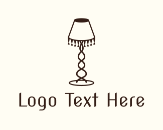 Antiquarian - Retro Lamp logo design