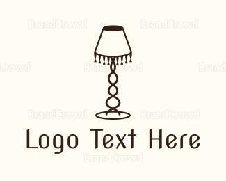 Decoration - Retro Lamp logo design