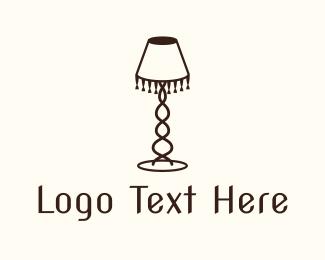 Interior - Retro Lamp Lighting logo design