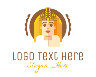 Brown Man - Wheat Brewer  logo design