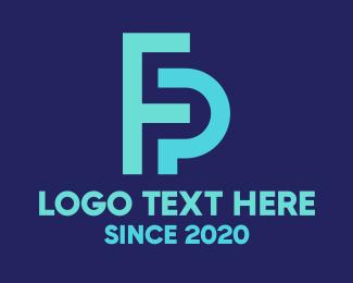 Fp - F & P Monogram logo design