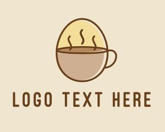 Egg - Egg Coffee Breakfast logo design