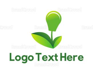 Eco Energy - Green Bulb logo design