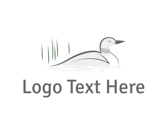 Duckling - White Duck logo design