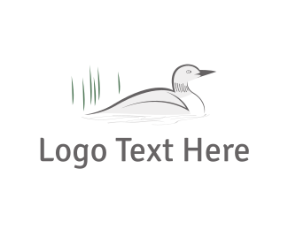 Pond - White Duck logo design