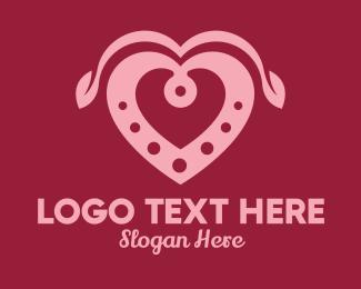 Matchmaking App - Decorative Heart Leaf  logo design