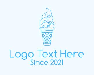Soft Serve - Blue Alps Iced Cream logo design