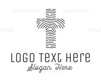 Belief - Thumbmark Cross logo design