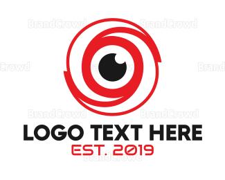 Whirl - Red Eye Whirl logo design
