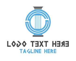 History - Greek Column logo design