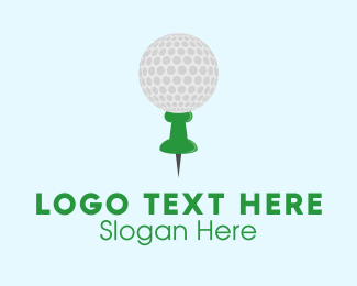Location Service - Golf Location Pin logo design