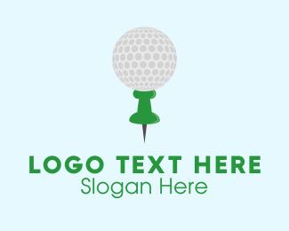 Pin - Golf Tack logo design