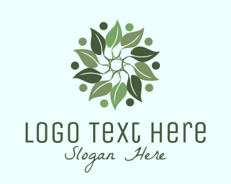 Leaf - Leaf Wreath  logo design