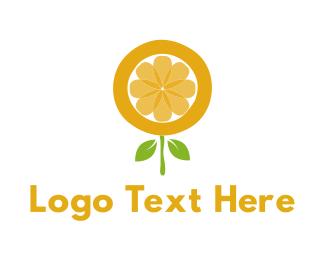 Citrus - Citrus Flower logo design
