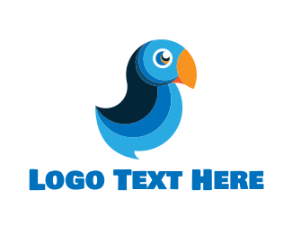 Tropical - Blue Macaw logo design