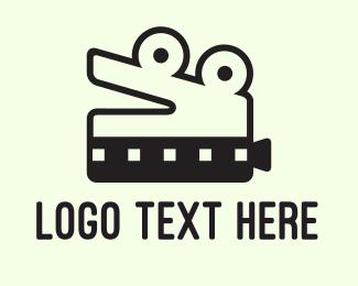 Reptile - Crocodile Film logo design