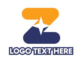 Astrology - Star Letter Z logo design