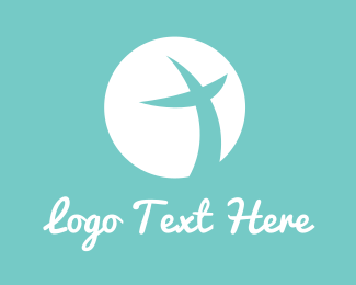 Crucifix - Peace Cross logo design