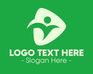 Health Care Worker - Generic Health Person logo design