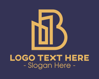 Letter - Building Letter B logo design