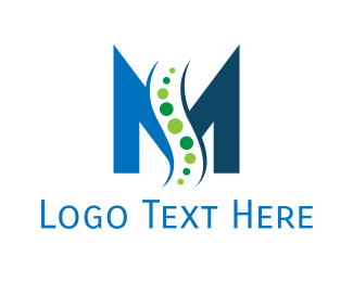 Chiropractic - Chiropractic Letter M logo design