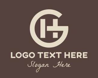 Hg - Hipster GH Monogram logo design