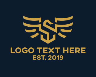 Royalty - Gold Eagle Luxury logo design