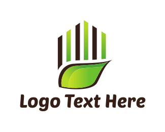 Grass - Green Leaf logo design