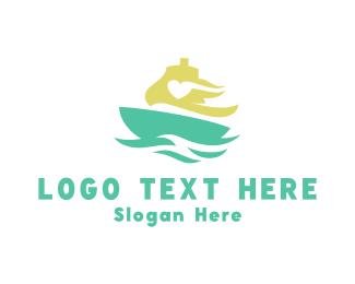 Ship - Love Ship logo design