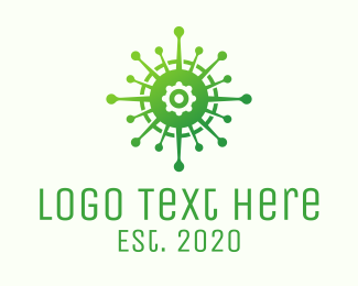 Microbiology - Green Lung Compass logo design