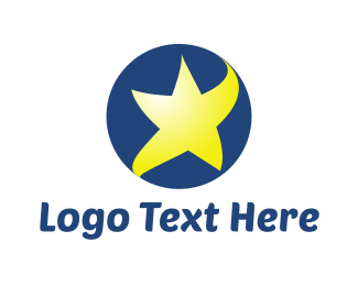 Blue And Yellow - Star Ball logo design