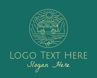 Road Trip - Beach Trip Van Tour logo design