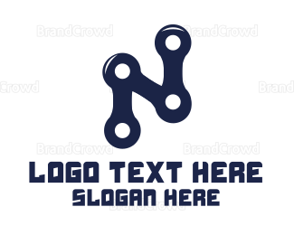 Biker - Cyclist Letter N logo design