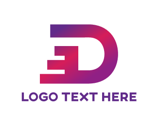 Initial - Dashing Letter D logo design