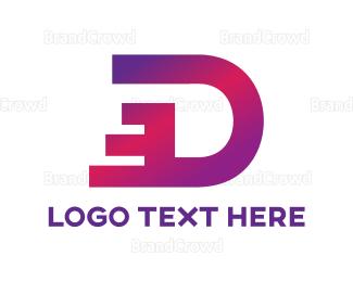 Distribution - Dashing Letter D logo design