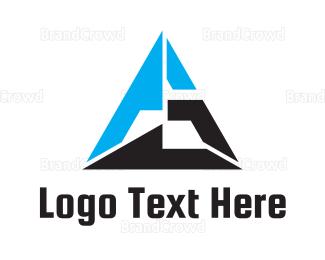 Ag - Triangle Monogram AG logo design