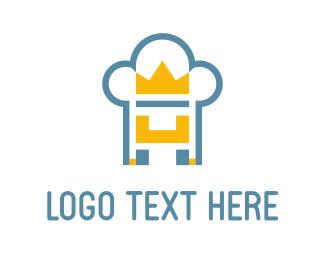 Fast Food - Throne Chef logo design