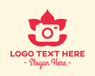 Photography - Pink Lotus Camera  logo design