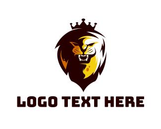 Minimalist - Minimalist Lion King logo design